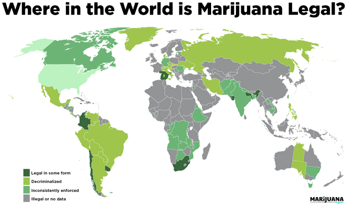 Where in the World Is Marijuana Legal?
