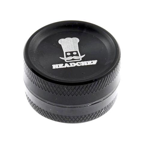 Mini 2-Piece Grinder Black 30mm